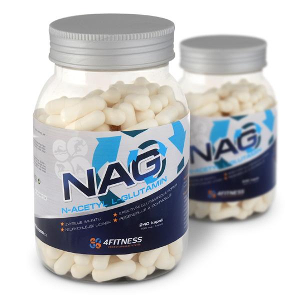 N-Acetyl L-Glutamin 240 kapslí po 500mg   NAG 389 Kč